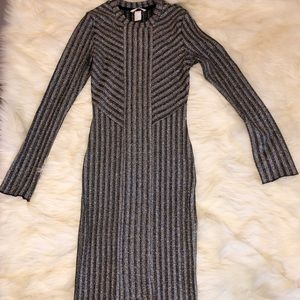 H&M classy black and silver dress